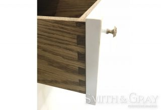 Custom made cabinet with antique oak dovetailed drawers