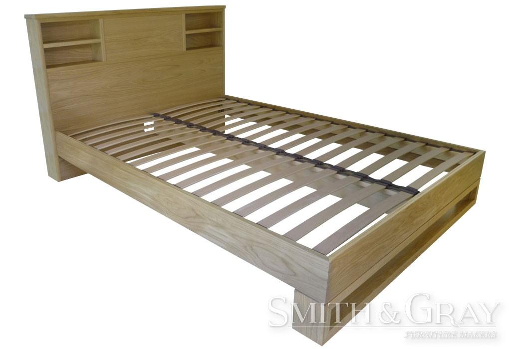 Custom made american oak orthopedic slats timber bed frame for American furniture bed frames