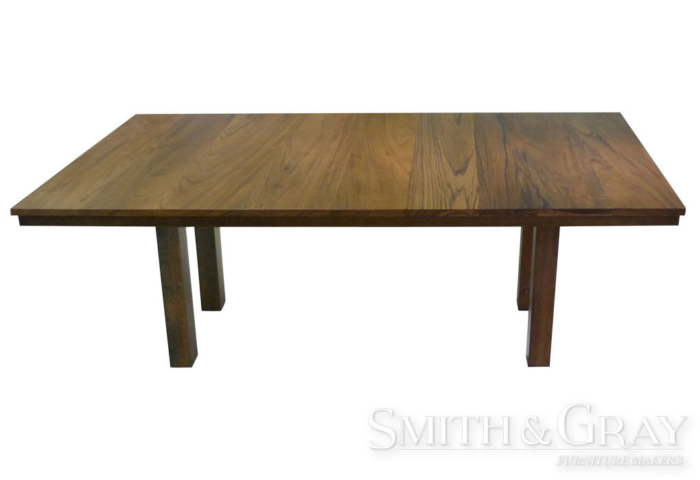 handmade custom dining table with square legs smith gray