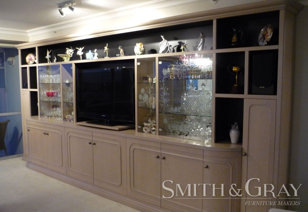 modern bookcase display cabinet with etched glass doors