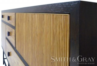 Modern Cabinet Png Reeded Rosewood Feature Panels With