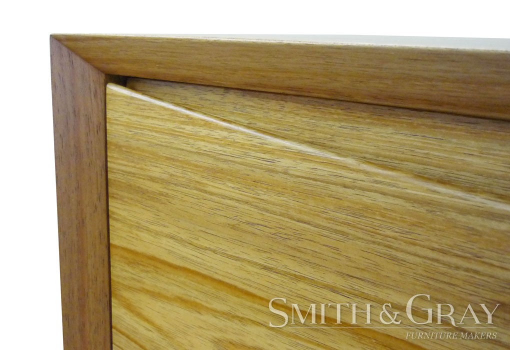 Modern danish bedside tables solid Tas Blackwood with tapered round legs