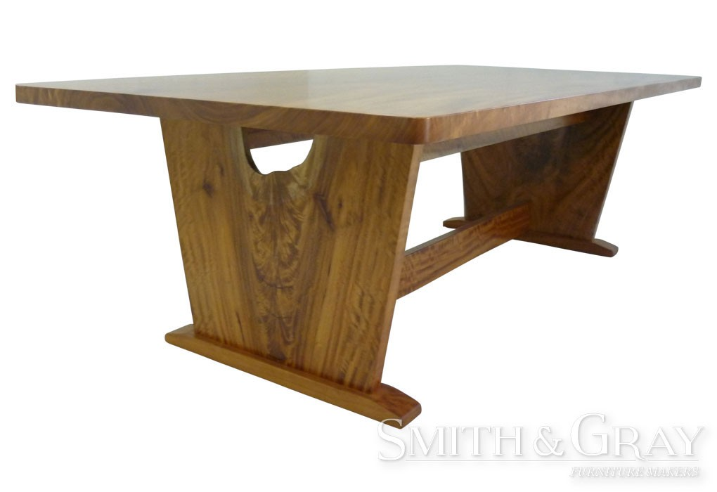 Solid Qld Maple Timber Leg Feature Dining Table SMITH GRAY