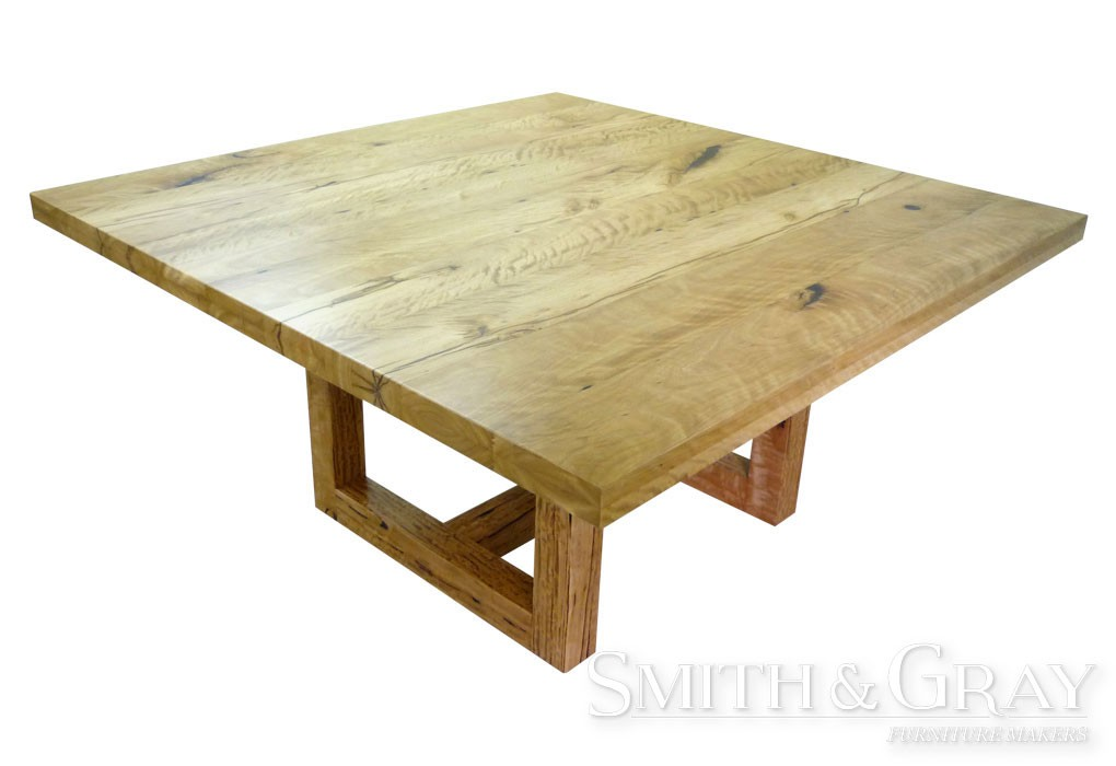 Square Rustic Loop Leg Dining Table SMITH GRAY