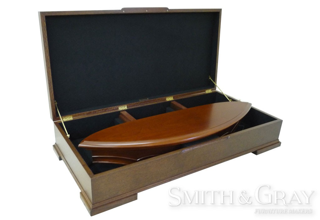 Table Leaf Storage Box Black Felt Lined Smith Amp Gray