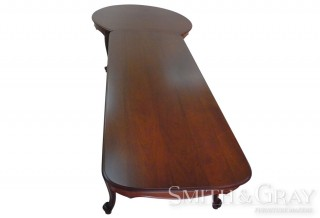 Traditional boardroom table Mahogany with handcarved scroll feet (front on)