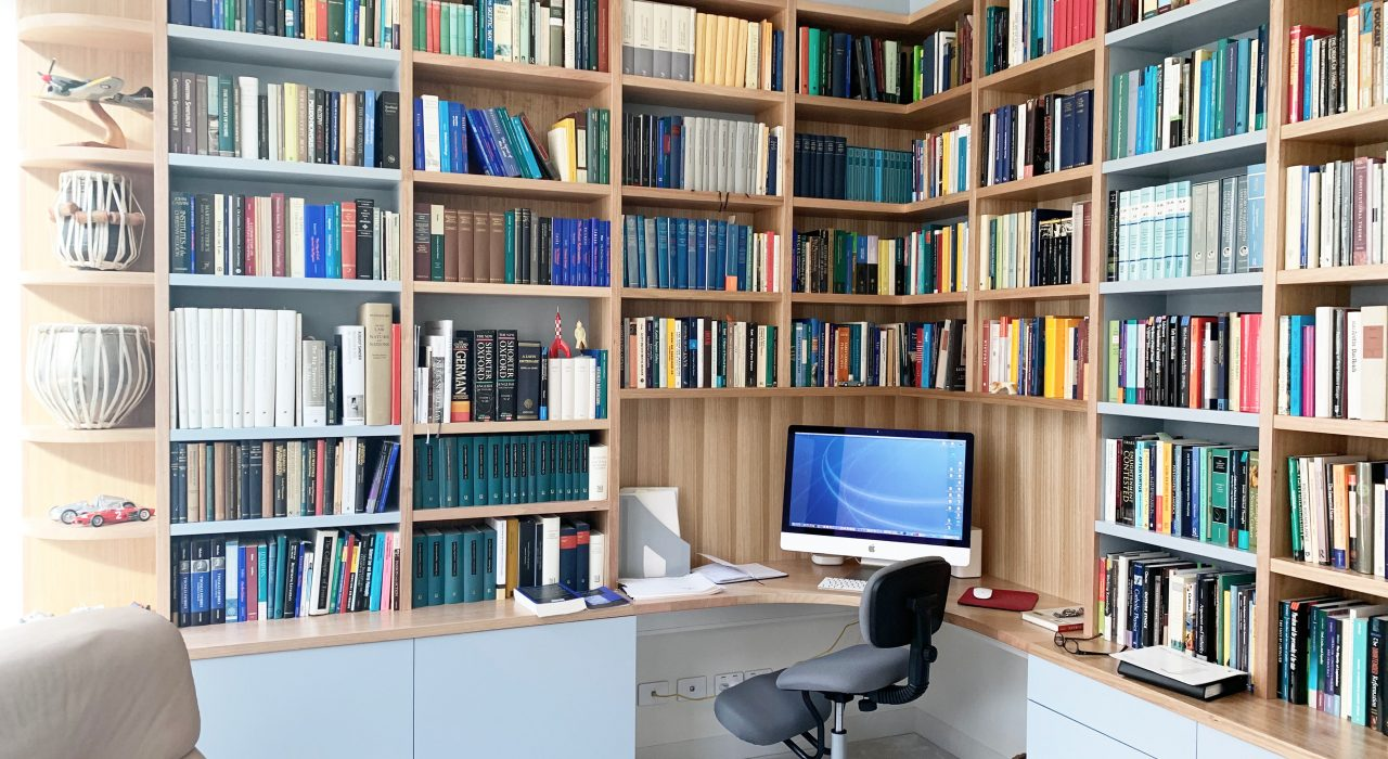 Large Home Office Bookcase Study Desk Bespoke Custom-made